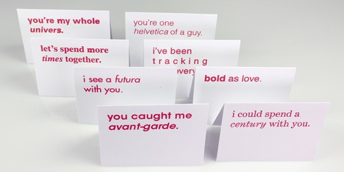 Typographic Valentines trypography card design _000