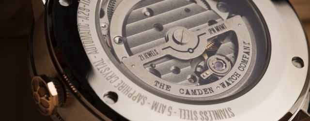 Camden Watch Company Automatic Steel and Rose Gold Back